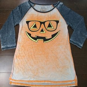 LOL Vintage | Nerdy Pumpkin Baseball Style Shirt